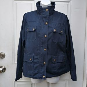 KUT From The Kloth Women's M Blue Zip Snap Button